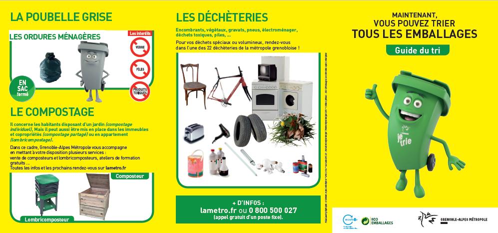 Favori Nouveau tri des déchets Métropole Grenoble IE03