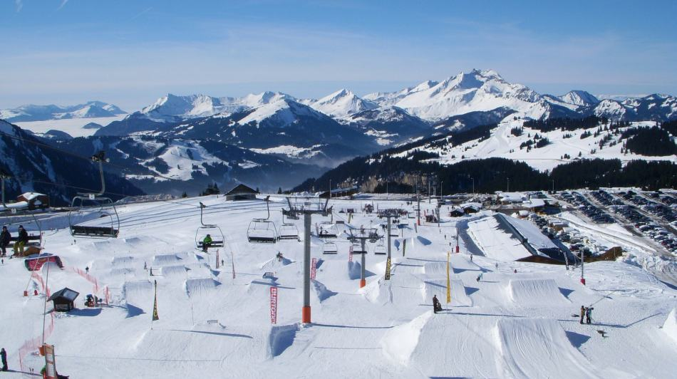 Avoriaz ski resort, french alps