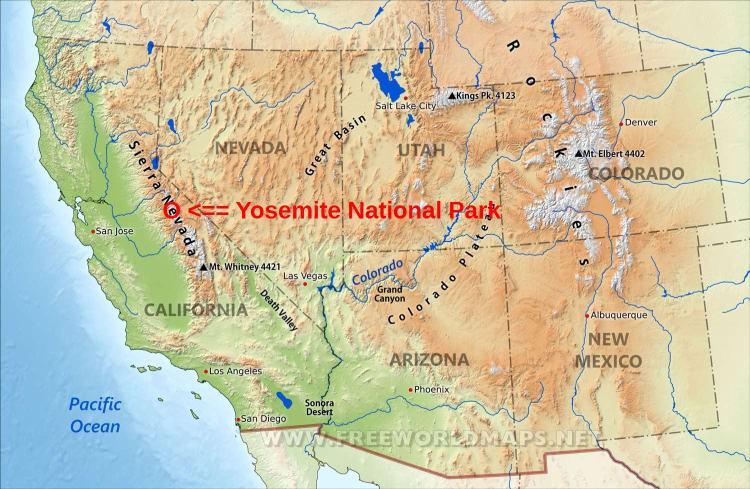 Parc Yosemite Carte.Le Parc National De Yosemite Californie Etats Unis Innov
